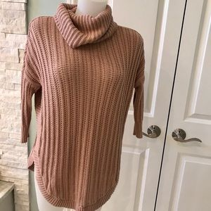 Blush colored tunic length sweater from Express